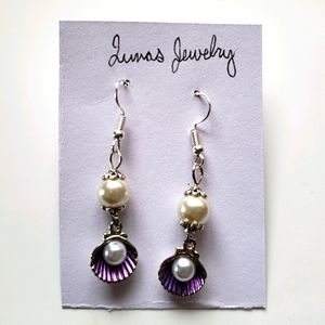 🌷 shell charm dangle earrings 🌷